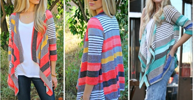 Lux Stripe Cardigan
