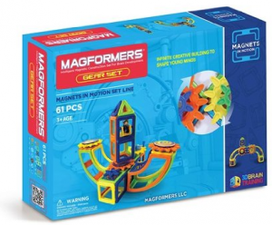 Magformers Magnets in Motion 61Pc Opaque Set