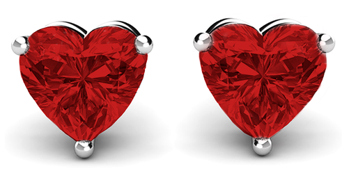 Multicolor Heart Studs with Swarovski Elements