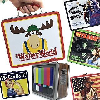 Old School Pop Culture Collectible Tin Lunch Boxes
