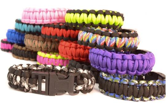 Paracord Survival Bracelet - Assorted Colors