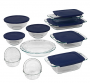 Pyrex® Easy Grab 19-pc. Bake and Prep Set with Blue Plastic Storage Lids