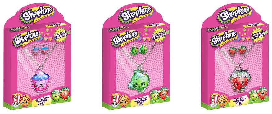 Shopkins Necklace & Earring Sets