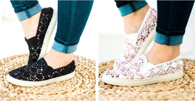 Slip on Crochet Flats