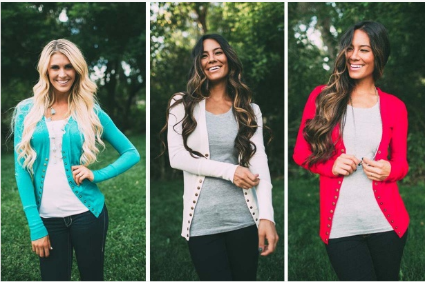 Snap Button Cardigan $9.49!