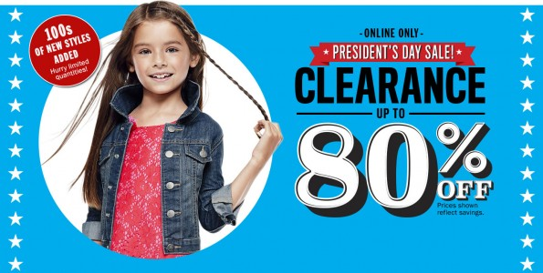 The Children's Place presidents day sale