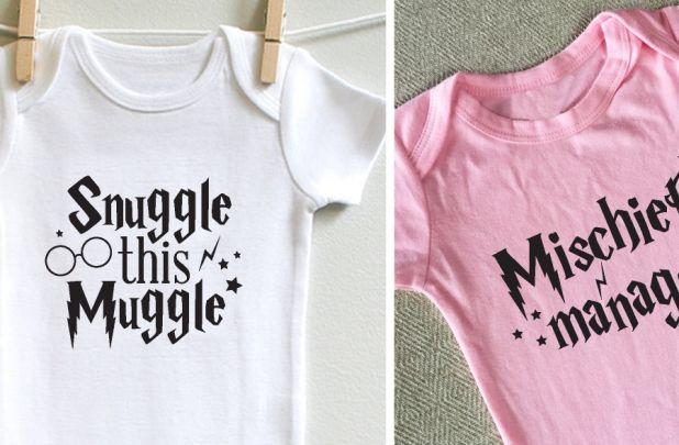 Wizard Inspired Baby Onesies