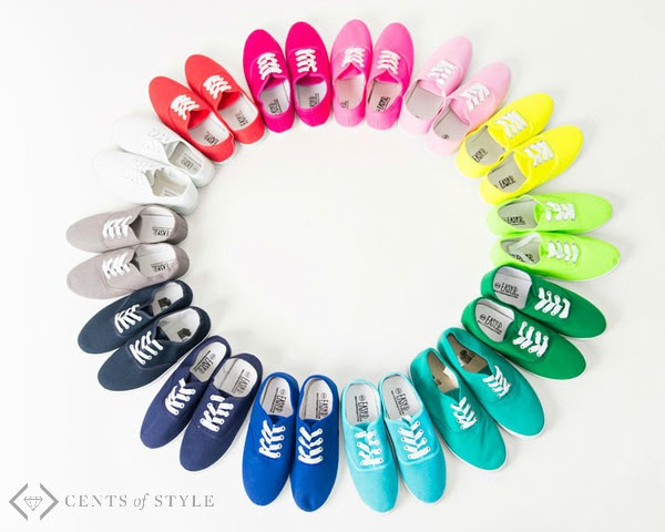 cents of style colored canvas sneakers
