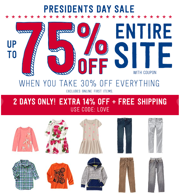 crazy 8 free shipping presidents day sale