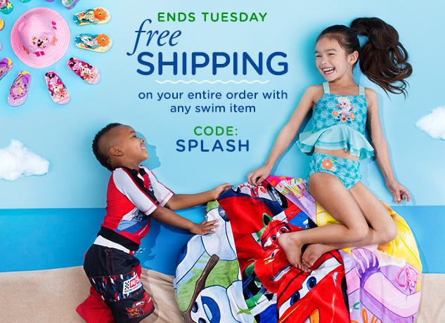 disneystore free shipping swim
