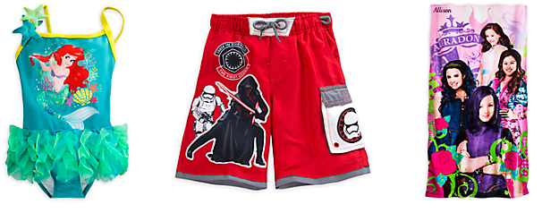 disneystore swimsuits and towels