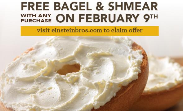 einstein bagel free bagel & shmear