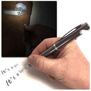 10 Pack Of Metal LED Ball Point Pen Lights