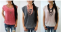 Burnout Cap Sleeve Tops