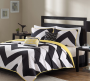 Chevron Coverlet and Decorative Pillow Set