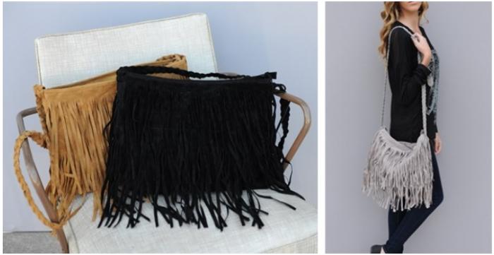 Designer Inspired Fringe Bag