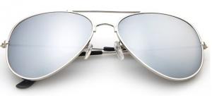 Designer-Inspired Mirrored Aviators
