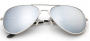 Designer-Inspired Mirrored Aviators