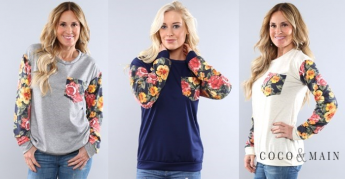 Floral Pullover Blowout