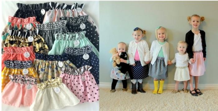 Handmade Boutique Ruffle Waist Skirts