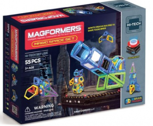 Magformers LED Lighted Magic Space Magnetic Building Set