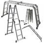OxGord Heavy Duty Aluminum 12.5 ft Folding Ladder