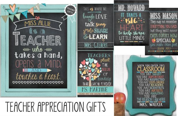 Personalized Teacher Appreciation 8x10 Prints