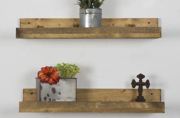 Pine Floating Shelves - Set of 2
