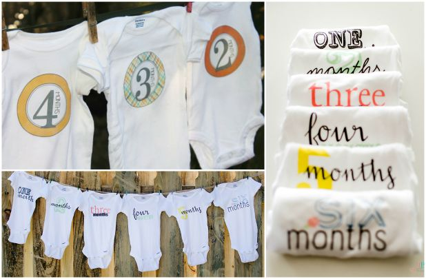Sun, moon, and cloud iron-ons for baby onesies lia griffith.