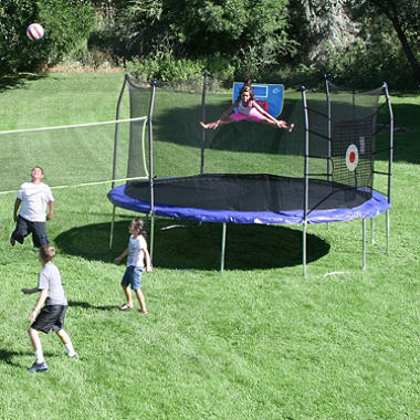 skywalker trampolines 15u0027 round sports arena trampoline and enclosure