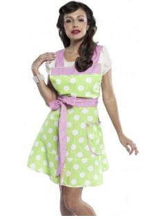 Women's BETTY Lime Polka-dot Apron