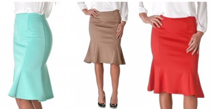 Women's Flared Stretch Pencil Skirt Blowout