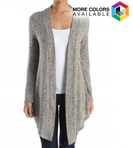 Women's Relaxed and Chic Marled Cardigan