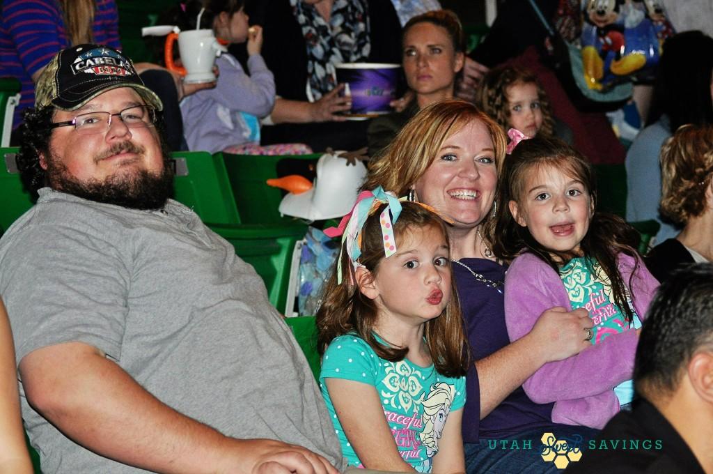 family at Disney on ice