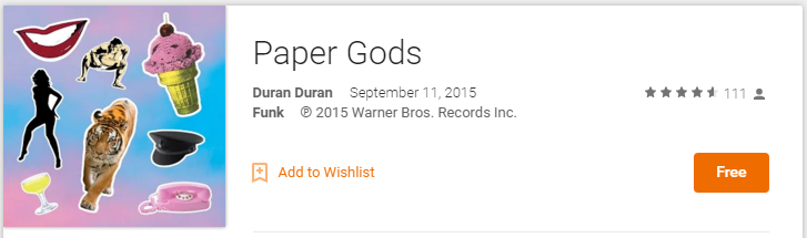 google play freebie duran duran paper goods
