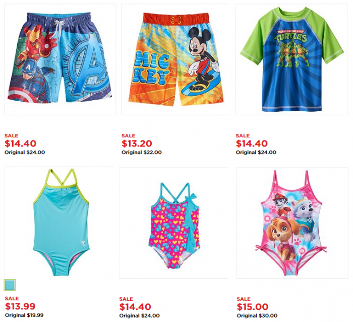a75be5dbe7f5f Kohl's: Kids Swimsuits for $6.91 Each! – Utah Sweet Savings