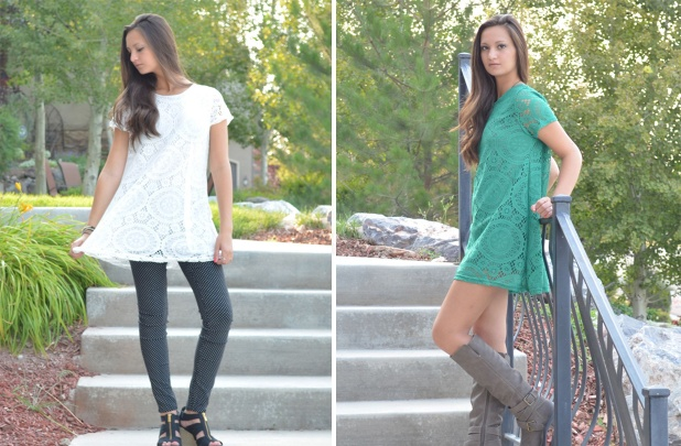lace lined tunic