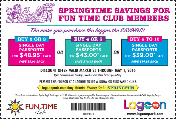 lagoon discounted admission