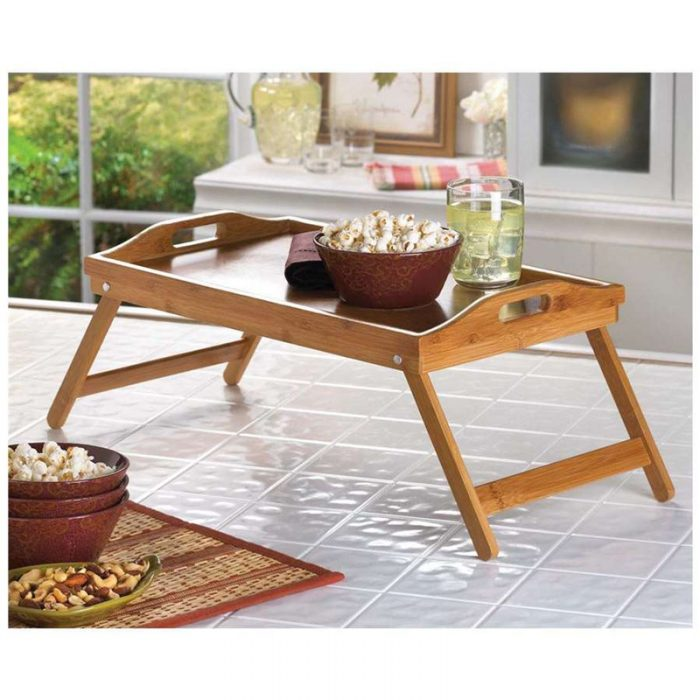Bamboo Folding Trays - Great For Meals Or Working In Bed!