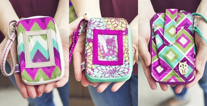 Cell Phone Wallet Wristlets