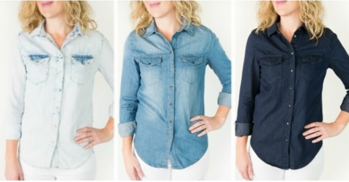 Chambray Button-Up Shirts