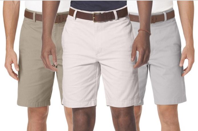 Chaps Men's Flat Front Twill Shorts