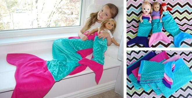 Girl + Doll Mermaid Tail Set