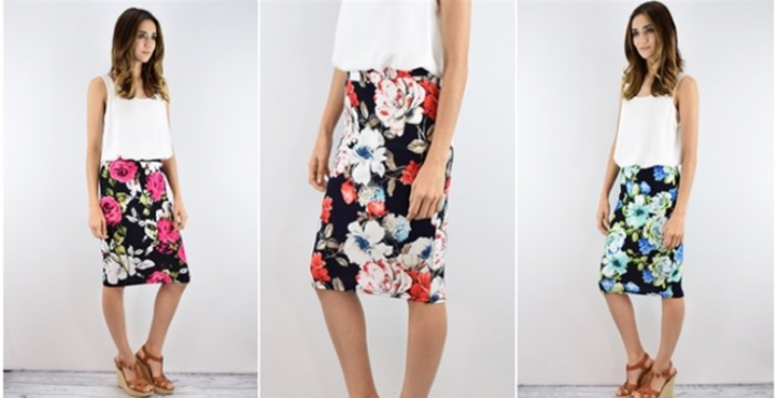 High Quality Floral Pencil Skirt
