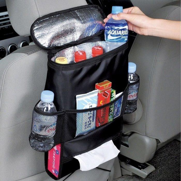 Insulated Auto Seat Back Organizer
