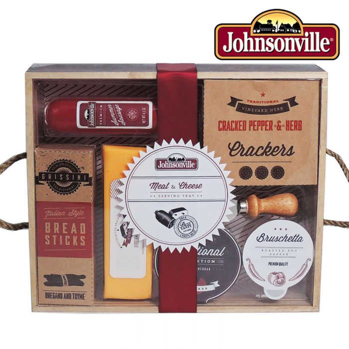 Johnsonville Meat and Cheese Wooden Serving Tray Gift Set With Knife - One For $12 Or Two For $20 - GREAT for Father's Day!