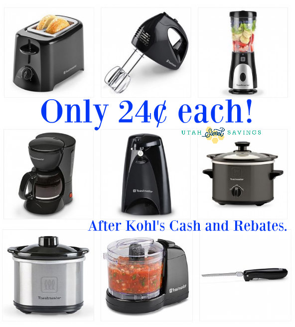 hot hot* small kitchen appliances for $0.24 after rebate and