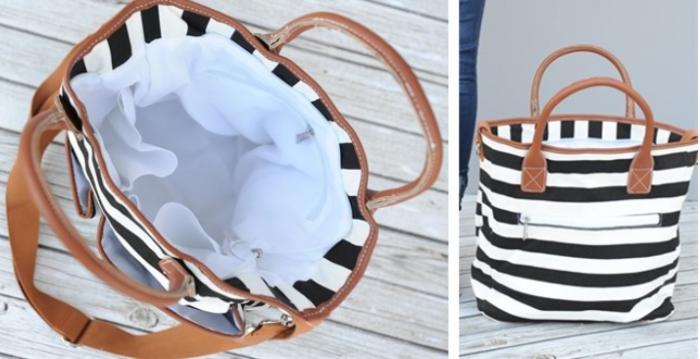 Mariah's Striped Multi Use Bag