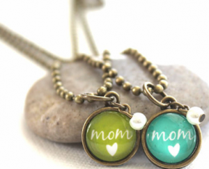 Mom Color Charm Necklaces