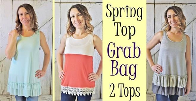 Spring Top Grab Bag  2 Tops